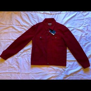Designer ASOS Red Denim Jacket